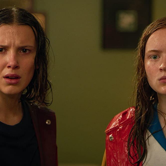 Sadie Sink and Millie Bobby Brown in Stranger Things (2016)