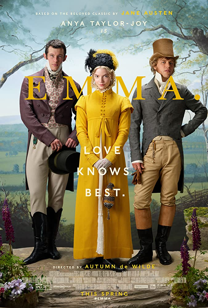 Johnny Flynn, Callum Turner, and Anya Taylor-Joy in Emma. (2020)