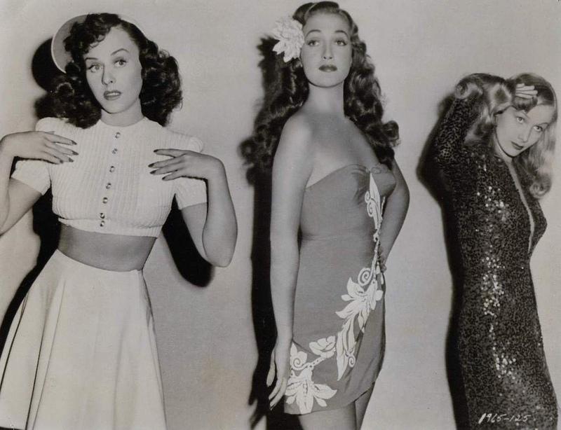 Veronica Lake, Paulette Goddard, and Dorothy Lamour in Star Spangled Rhythm (1942)