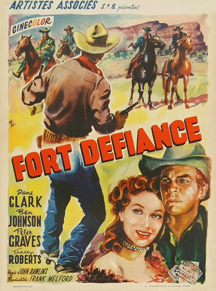 Peter Graves and Tracey Roberts in Fort Defiance (1951)
