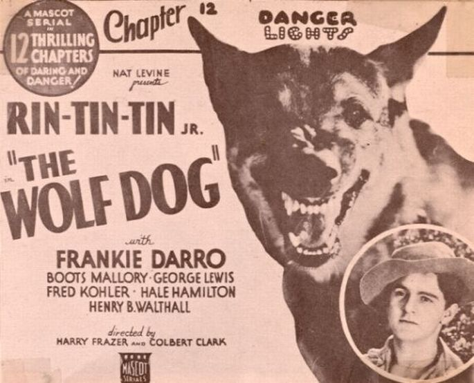 Frankie Darro and Rin Tin Tin Jr. in The Wolf Dog (1933)