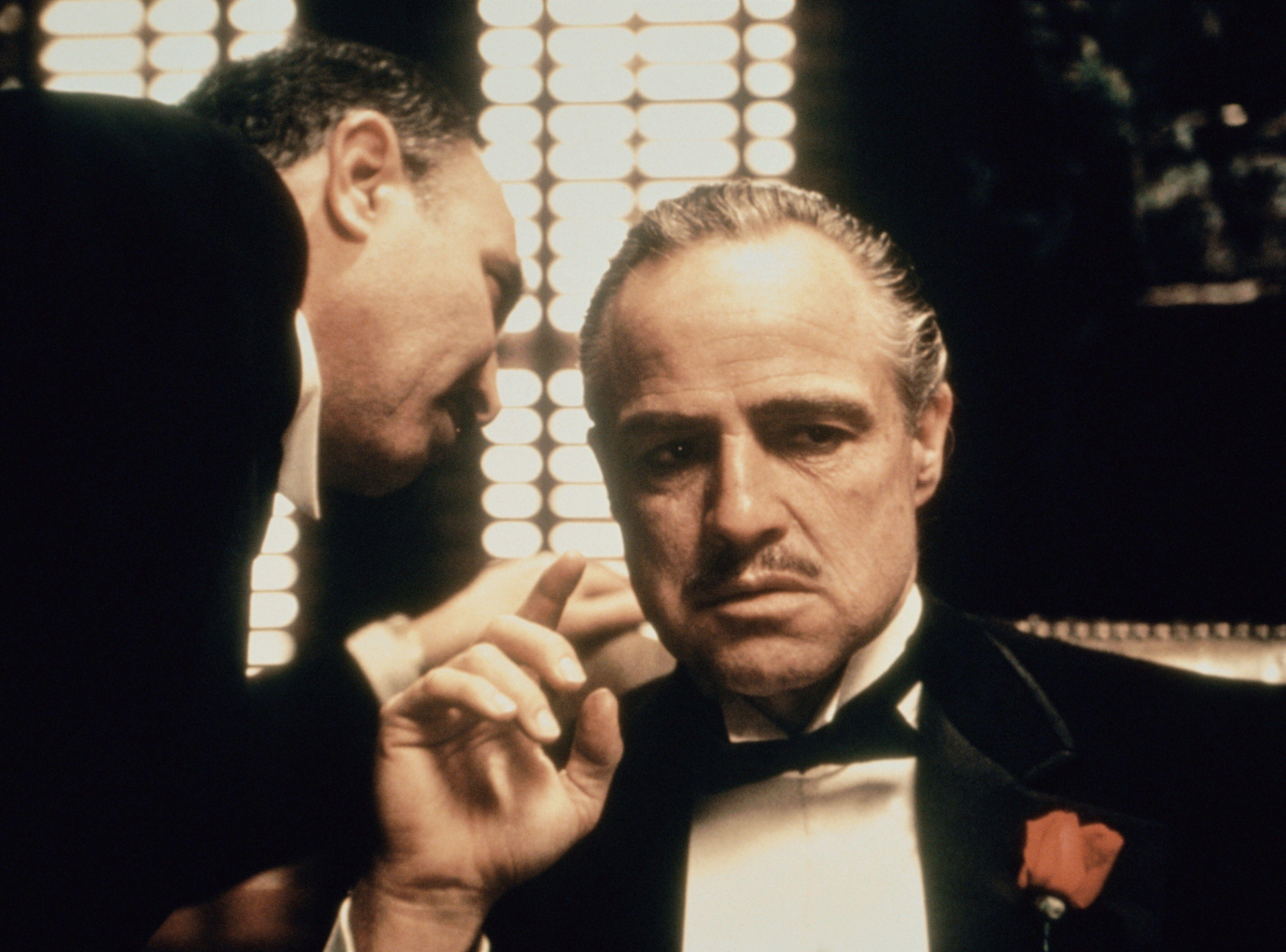 Marlon Brando and Salvatore Corsitto in The Godfather (1972)