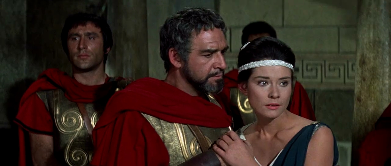 Diane Baker and Robert Brown in The 300 Spartans (1962)