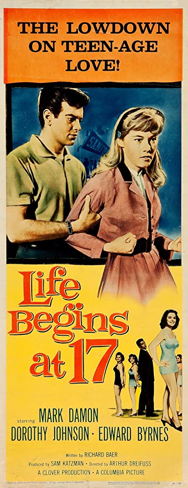 Edd Byrnes, Mark Damon, and Dorothy Johnson in Life Begins at 17 (1958)