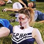 Brittany Allen, Martha MacIsaac, April Mullen, Kyle Schmid, Devon Bostick, Brandon Jay McLaren, and Tim Doiron in Dead Before Dawn 3D (2012)