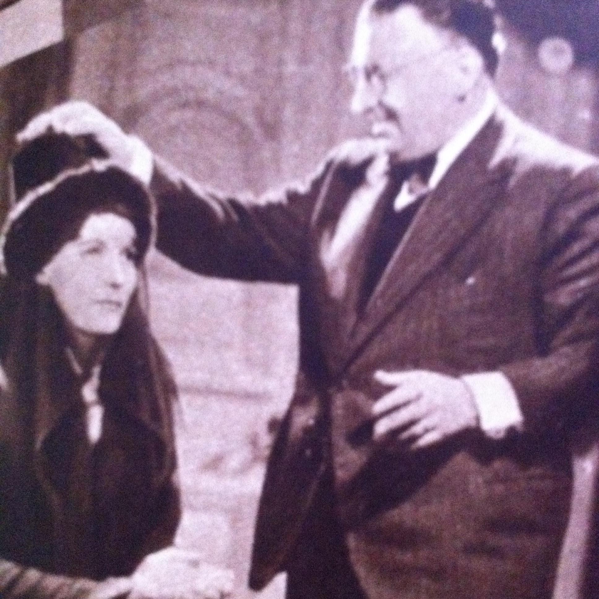 Greta Garbo and Karl Freund in Conquest (1937)