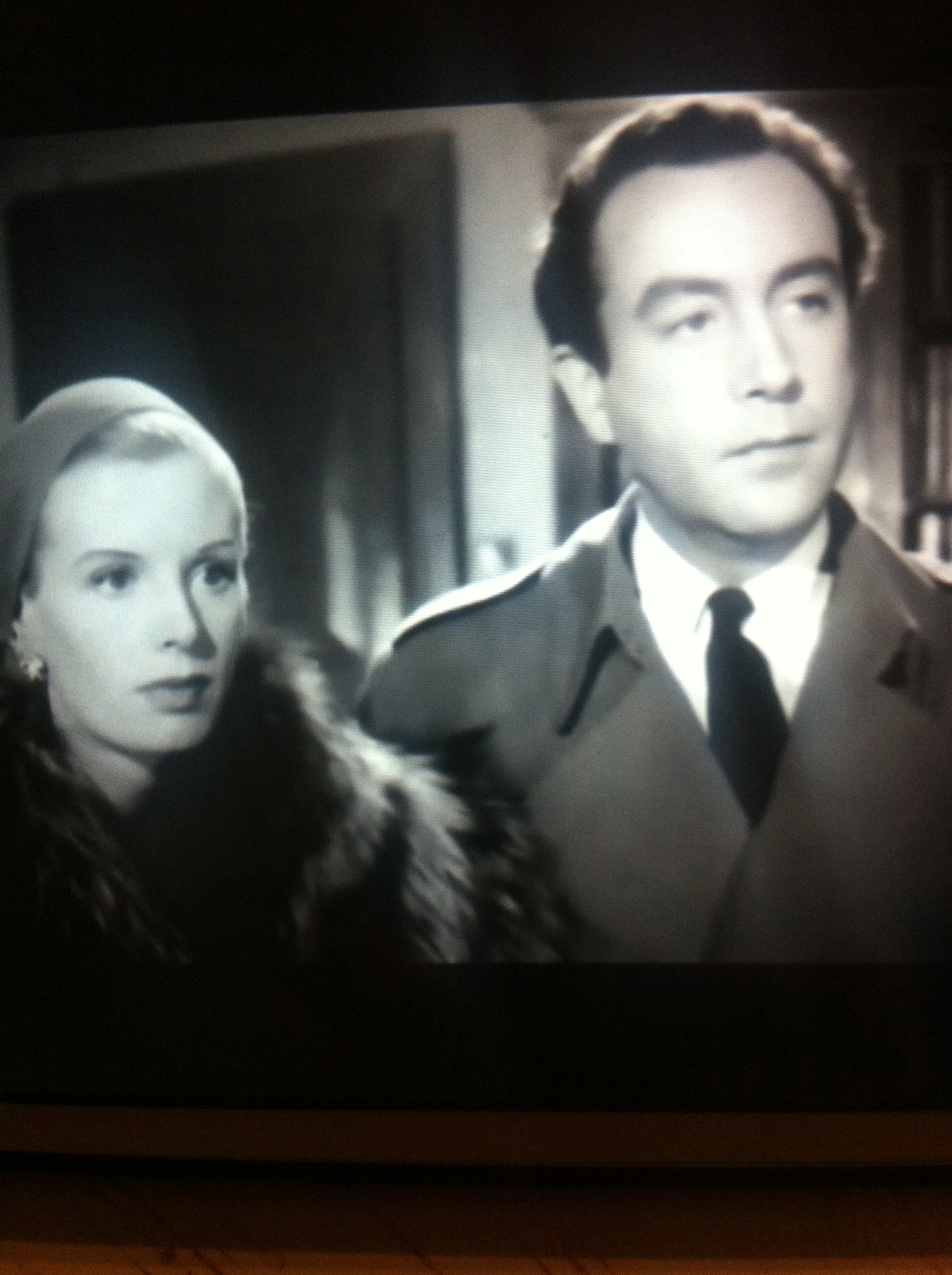 Peggy Evans and Dennis Price in Murder at 3am (1953)