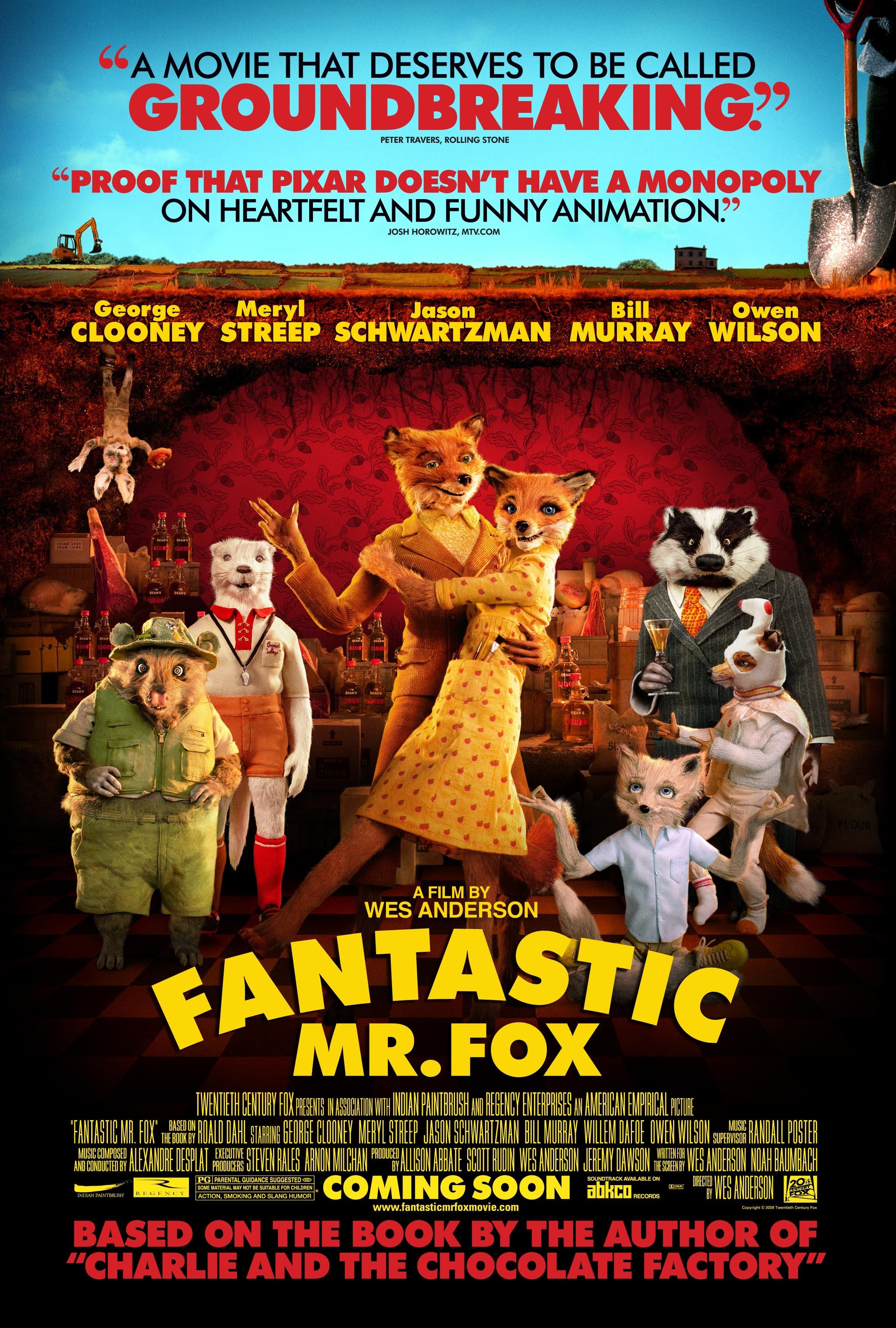 Fantastic Mr. Fox (2009) BluRay 480p, 720p & 1080p