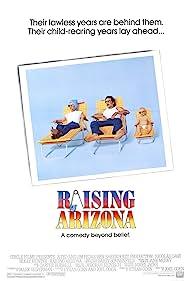 Nicolas Cage and Holly Hunter in Raising Arizona (1987)