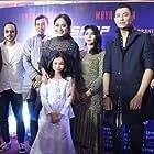 Nasir Bilal Khan, Yusof Haslam, Maya Karin, Rahim Razali, Nur Zara Sofia, Weni Panca, Fauzi Nawawi, Mawi, Fizz Fairuz, and Rahimi Maidin at an event for Munafik 2 (2018)