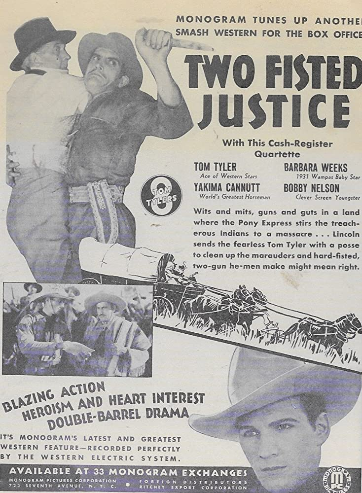 Pedro Regas and Tom Tyler in Two Fisted Justice (1931)