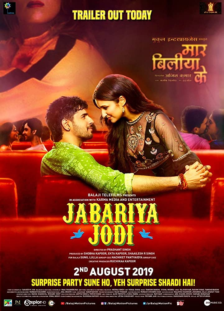 Sidharth Malhotra and Parineeti Chopra in Jabariya Jodi (2019)