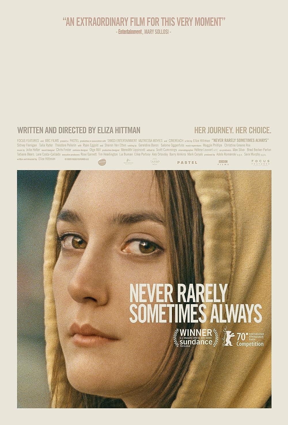Niekada retai kartais visada (2020) / Never Rarely Sometimes Always