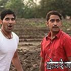 Chinmay Mandlekar and Akshay Waghmare in Hou De Jarasa Ushir (2012)