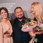 With writer and director Costa Fam and actress Anna Churina at the Moscow premiere of WITNESSES.