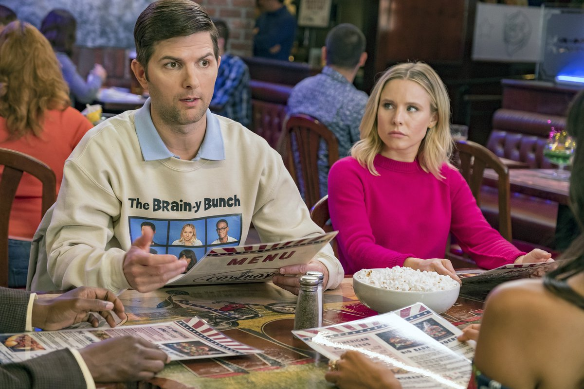 Adam Scott and Kristen Bell in The Good Place (2016)