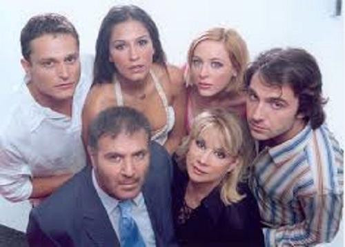 Anna Andrianou, Yorgos Karamihos, Nikos Seryanopoulos, Katerina Papoutsaki, Fay Xyla, and Fanis Mouratidis in Epafi (2005)