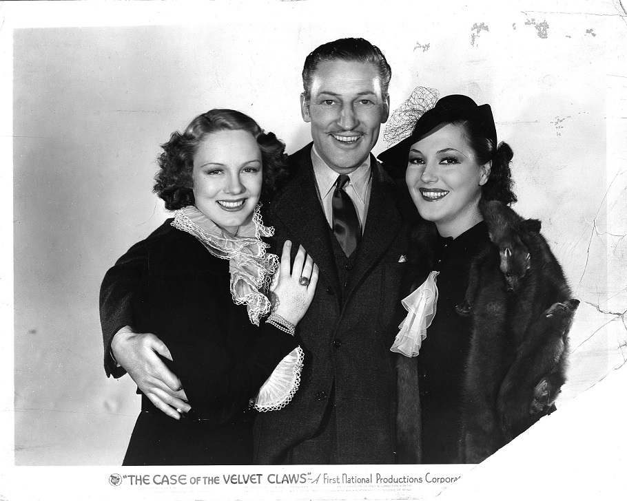 Claire Dodd, Wini Shaw, and Warren William in The Case of the Velvet Claws (1936)