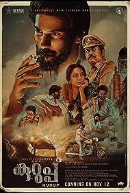 Indrajith Sukumaran, Shine Tom Chacko, Dulquer Salmaan, and Sobhita Dhulipala in Kurup (2021)