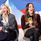 Sarah Gadon and Aubrey Plaza at an event for The IMDb Studio at Acura Festival Village (2020)