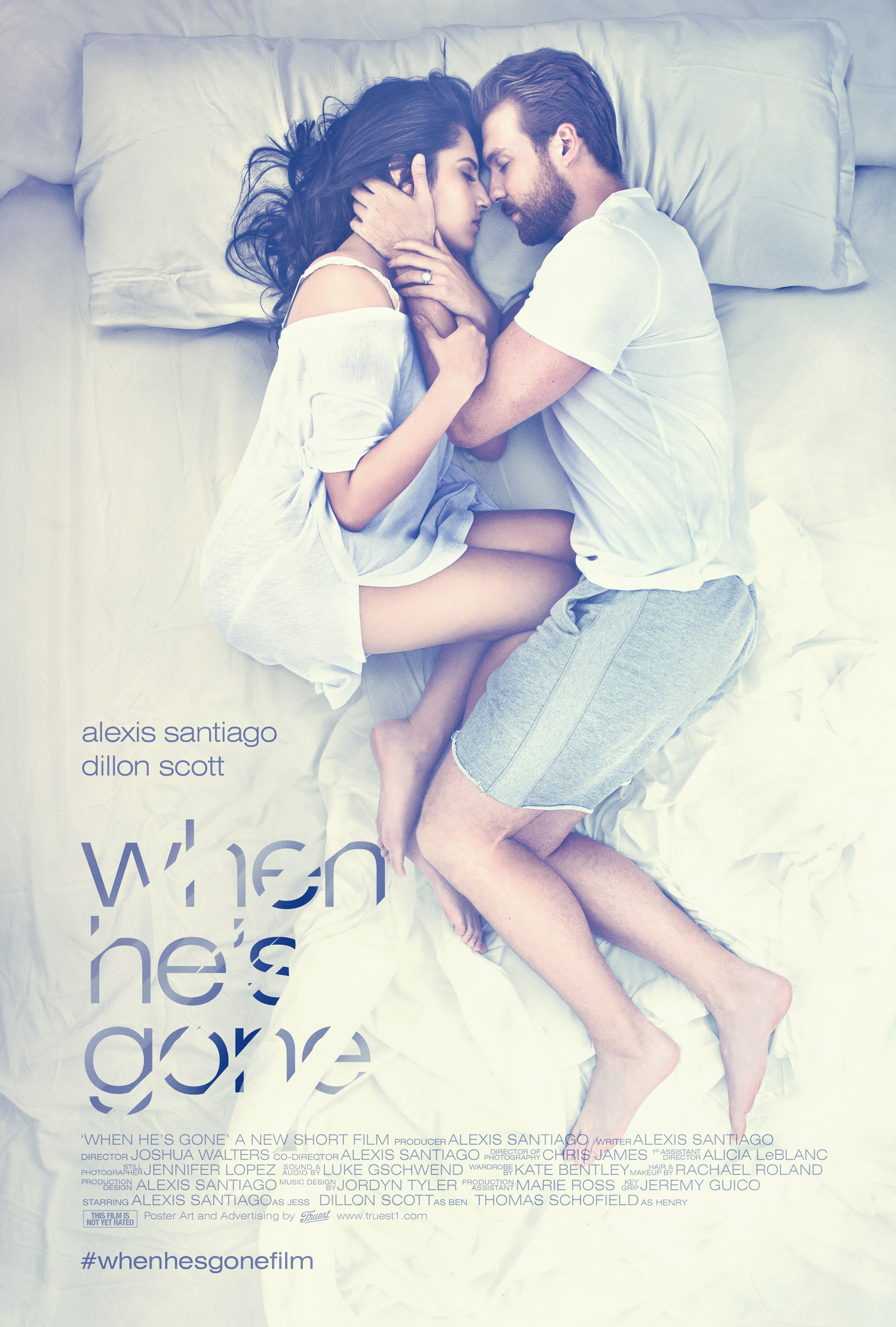 """""""When He's Gone"""" poster"""