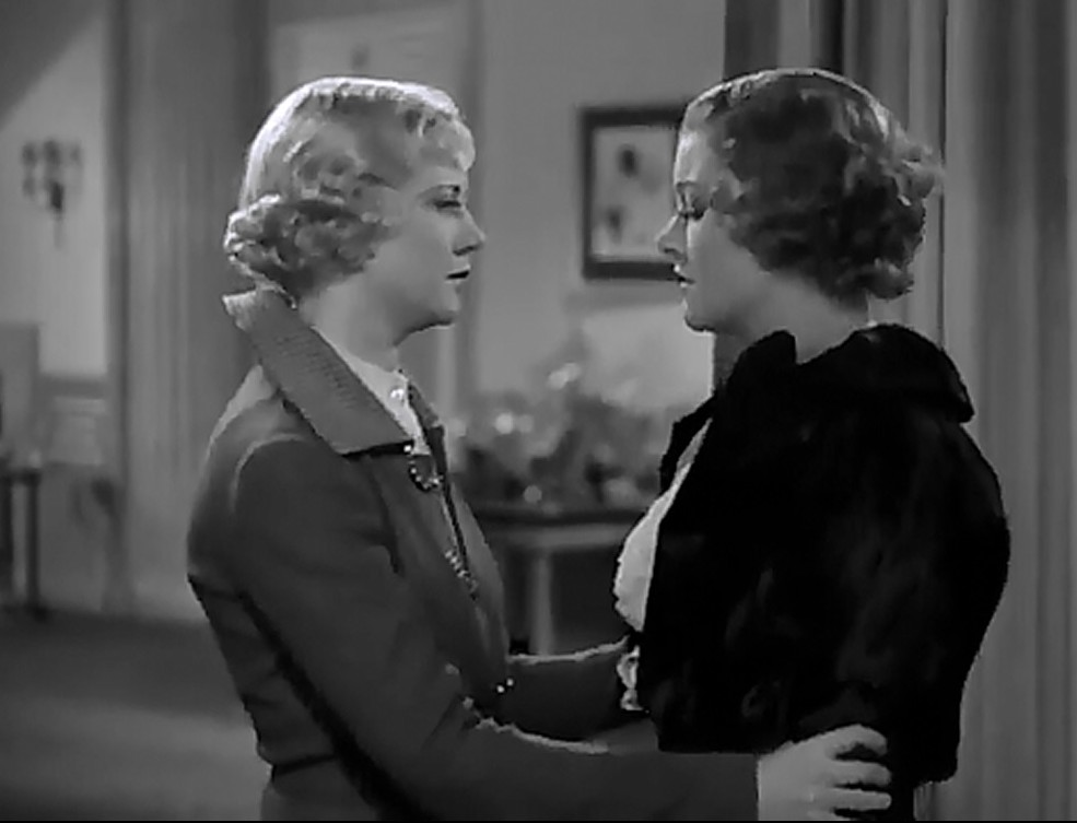 Myrna Loy and Una Merkel in Evelyn Prentice (1934)