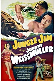 Lita Baron and Johnny Weissmuller in Jungle Jim (1948)