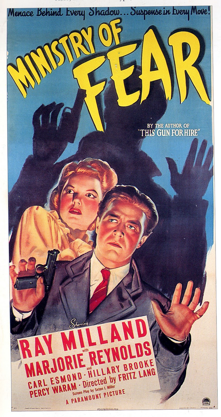 Ray Milland and Marjorie Reynolds in Ministry of Fear (1944)