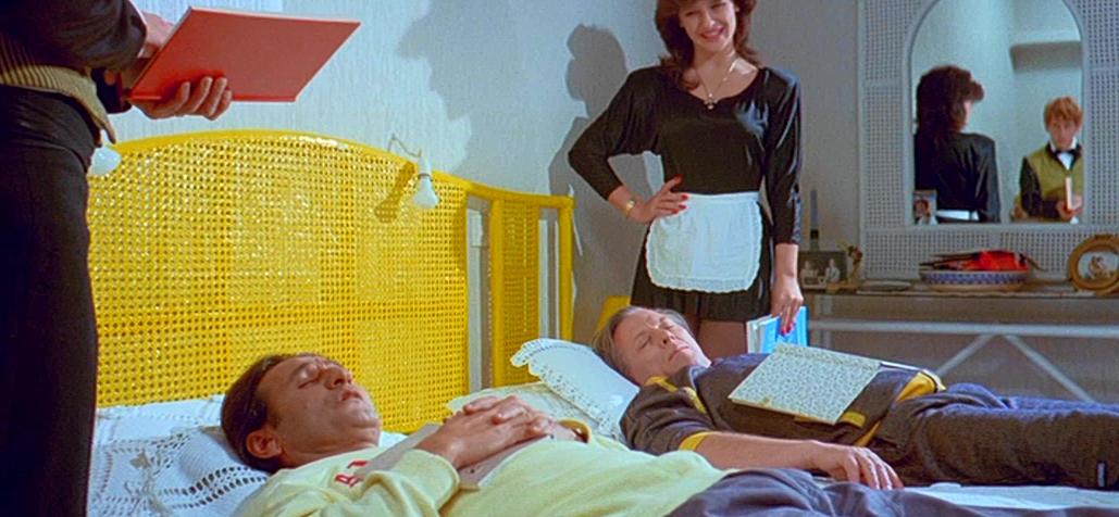 Sotiris Moustakas, Kostas Voutsas, and Geli Gavriil in Ta touvla (1985)