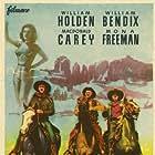 William Holden, William Bendix, Macdonald Carey, and Mona Freeman in Streets of Laredo (1949)