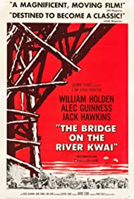 Alec Guinness, William Holden, Jack Hawkins, Sessue Hayakawa, Geoffrey Horne, and Ann Sears in The Bridge on the River Kwai (1957)