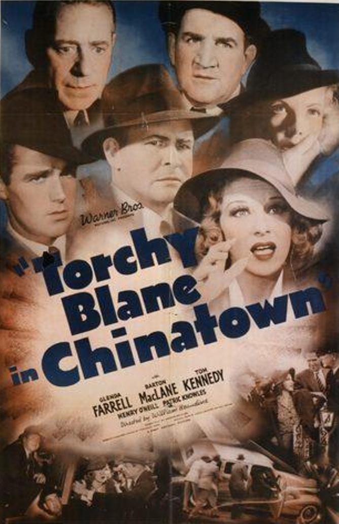Glenda Farrell, Tom Kennedy, Patric Knowles, Barton MacLane, Henry O'Neill, and Janet Shaw in Torchy Blane in Chinatown (1939)