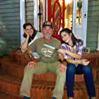 """Kent Shelton with Jennifer Taylor and Jade Harlow on the set of """"In Bed With a Killer,"""" for which Kent choreographed a vicious """"cat fight."""""""