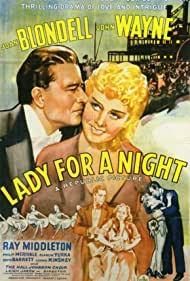 John Wayne, Joan Blondell, and Ray Middleton in Lady for a Night (1942)