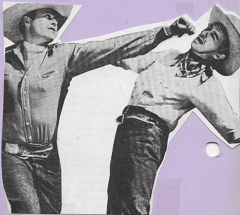 Bob Baker and Tex Palmer in Prairie Justice (1938)