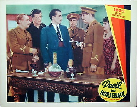 Lili Damita, Francisco Flores del Campo, Enrique de Rosas, Fred Keating, and Jack Stegall in The Devil on Horseback (1936)