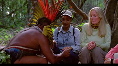 """A group of tourists joins the Amazon Forest riverboat """"Queen"""" as it ventures upriver, to visit indigenous villages and explore jungle habitats. But a dark cloud of thievery and menace thunders aboard, threatening all with death."""