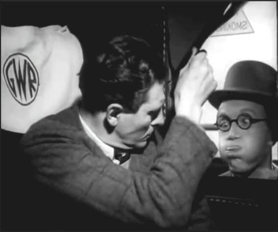 Arthur Askey and Peter Murray-Hill in The Ghost Train (1941)