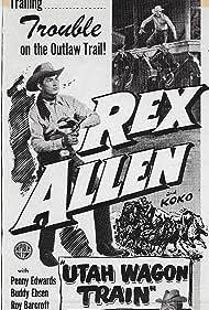 Buddy Ebsen and Rex Allen in Utah Wagon Train (1951)