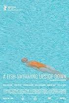 Ein Fisch, der auf dem Rücken schwimmt