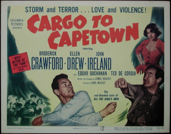 Cargo to Capetown Broderick Crawford movie poster