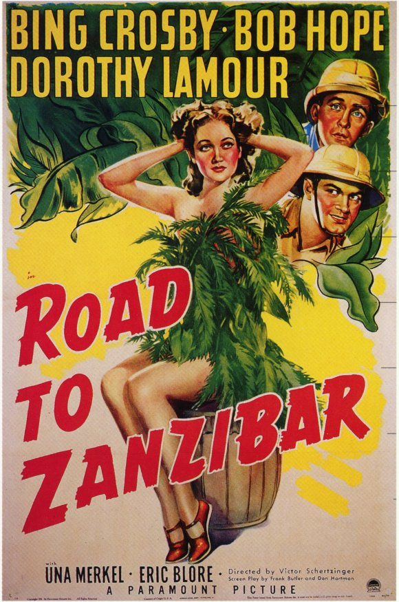 Bing Crosby, Bob Hope, and Dorothy Lamour in Road to Zanzibar (1941)