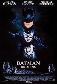 Michelle Pfeiffer, Danny DeVito, Michael Keaton, Christopher Walken, and Cristi Conaway in Batman Returns (1992)
