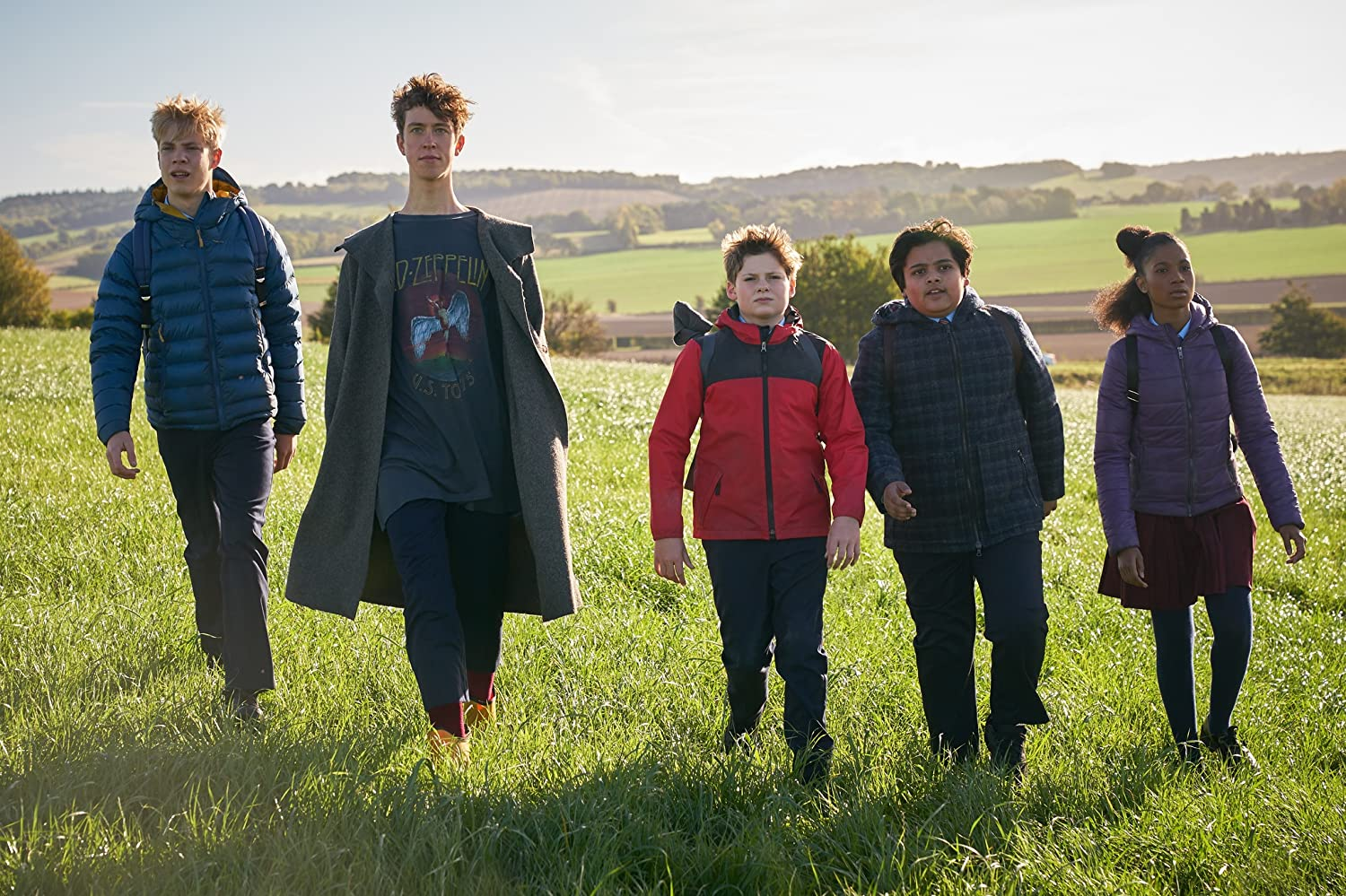 Angus Imrie, Louis Ashbourne Serkis, Tom Taylor, Rhianna Dorris, and Dean Chaumoo in The Kid Who Would Be King (2019)