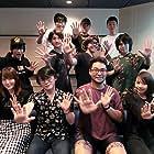 Takuma Terashima, Mikako Komatsu, Yoshito Kobashigawa, Ayumu Murase, Fukushi Ochiai, and Kentarô Kumagai at an event for Hinomaru Sumo (2018)