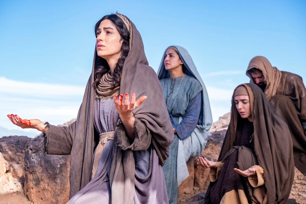 Betsabeh Emran, Houda Echouafni, and Cassie Bradley in Jesus: His Life (2019)