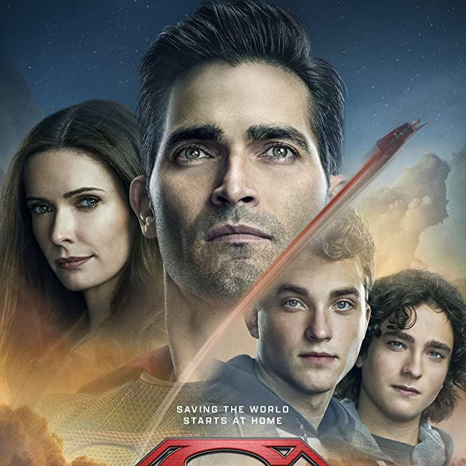 Tyler Hoechlin, Elizabeth Tulloch, Alex Garfin, and Jordan Elsass in Superman and Lois (2021)