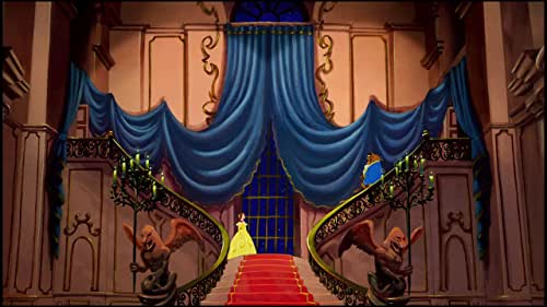 Belle, whose father is imprisoned by the Beast, offers herself instead and discovers her captor to be an enchanted prince.
