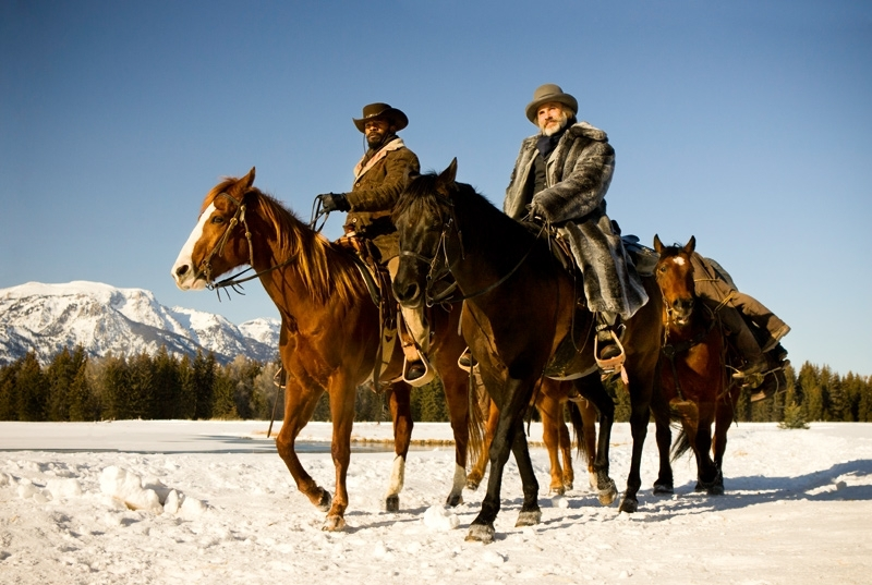 Jamie Foxx and Christoph Waltz in Django Unchained (2012)