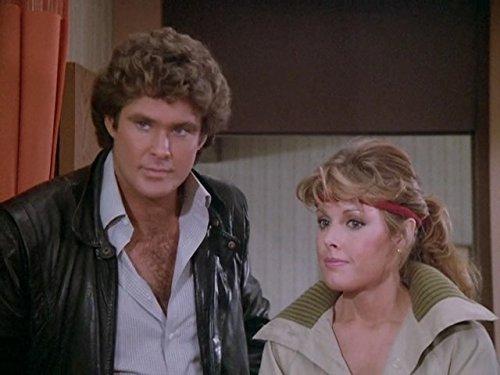 David Hasselhoff and Rebecca Holden in Knight Rider (1982)